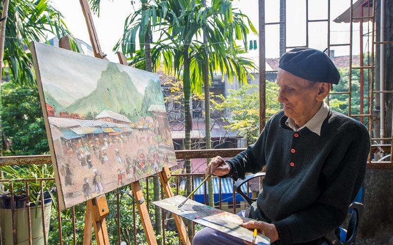 Mộng thấy họa sỹ vẽ tranh chợ quê đánh nhanh cặp lô 30 - 74.